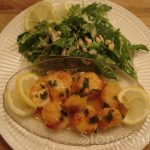 Pan Seared Scallops with Lemon Wine Reduction