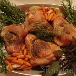 Roasted Turkey Thighs wth Herb Butter- A Thanksgiving Test Turkey!