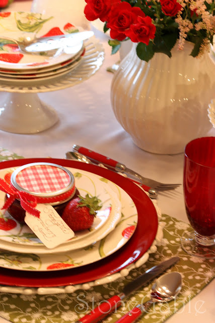 Strawberry Festival Tablescape & April Cornell Giveaway Winner