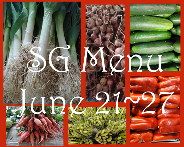 StoneGable Weekly Menu June 21- 27
