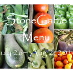 StoneGable Menu Plan~ July 26- Aug 2, 2010