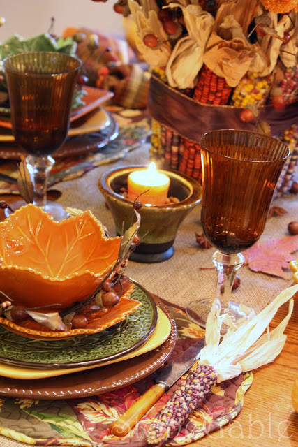 Autumn Patchwork Tablescape