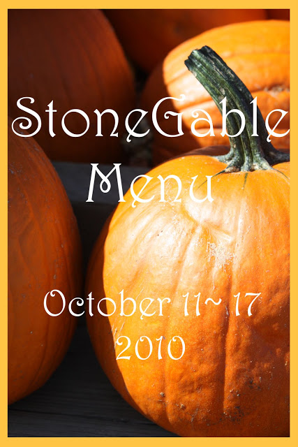 StoneGable Weekly Menu
