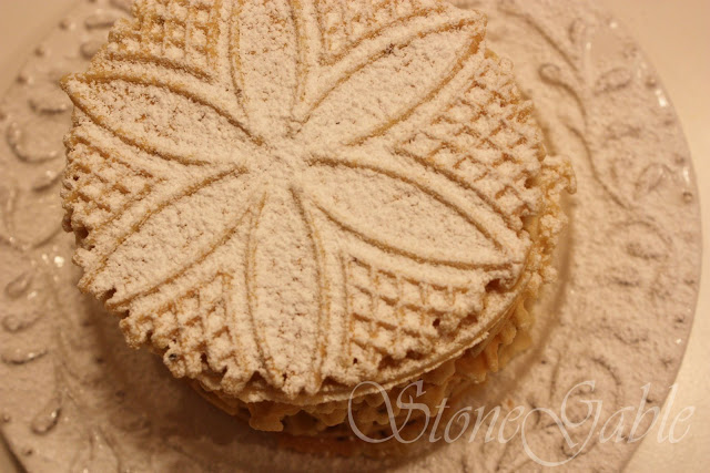 Christmas Pizzelles