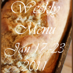 Weekly Menu, January 17 ~ 23, 2011