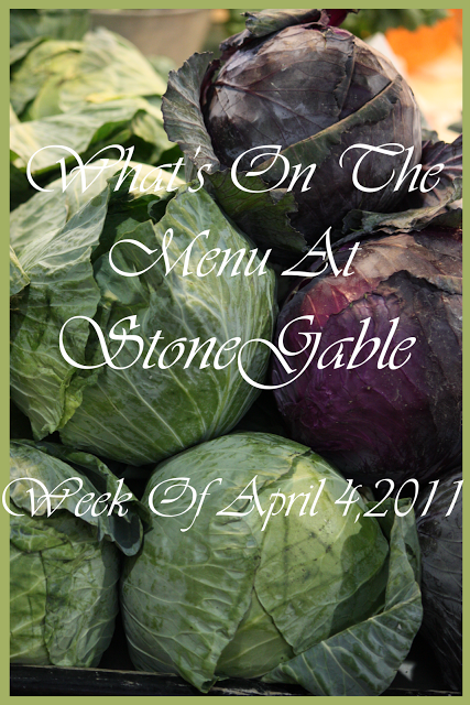 What's On The Menu~ Week Of April 4, 2011