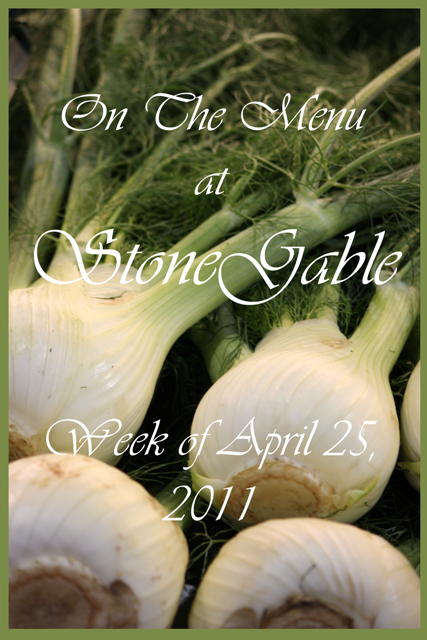 On The Menu At StoneGable And GWAHM Giveaway