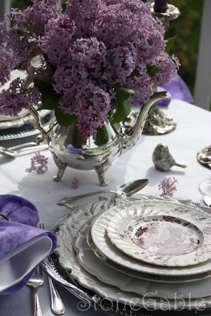 Lilac Tablescape
