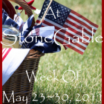On The Menu At StoneGable~ Week Of May 23,2011