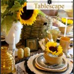 Bees and Sunflower Tablescape