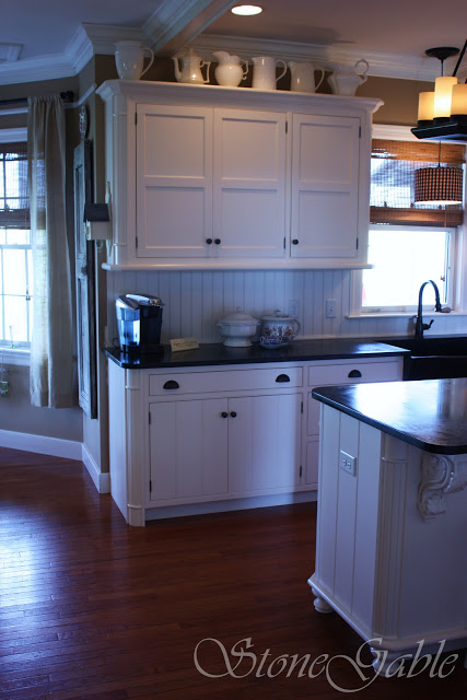 I never had a back splash behind my counters until now i for Atrium white kitchen cabinets