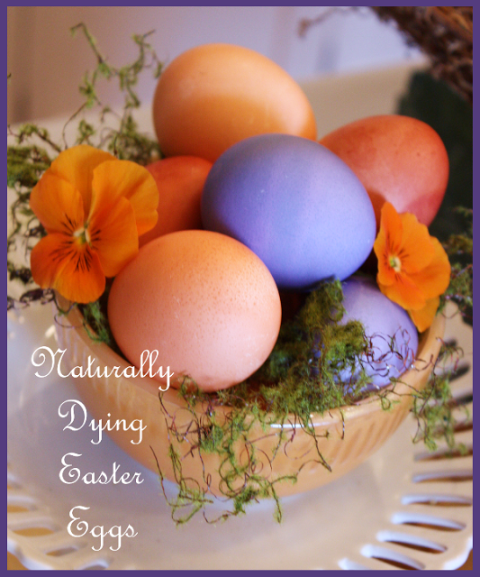 NATURALLY DYING EASTER EGGS