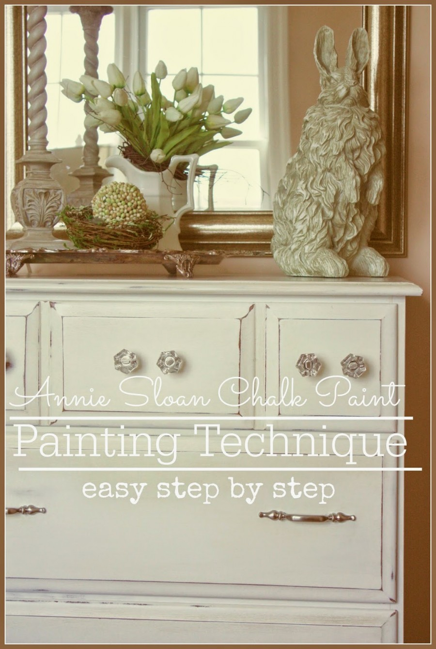 WHITE DRESSER PAINTING TECHNIQUES