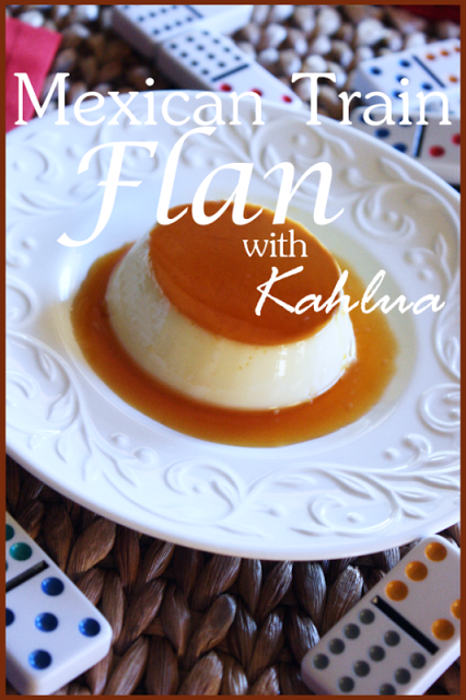 MEXICAN TRAIN FLAN WITH KAHLUA