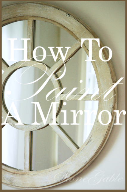 HOW TO PAINT AN UGLY MIRROR