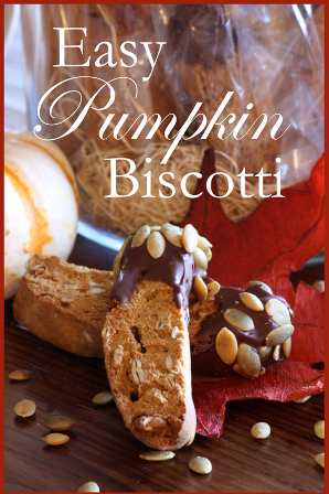 Easy Pumpkin Biscotti~ BLOG - SIDEBAR