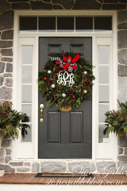 This wreath is very and i mean very easy to make - What does a red front door mean ...