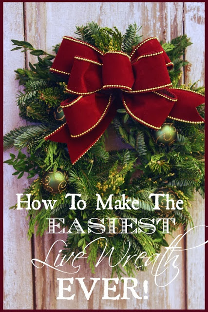 THE EASIEST WAY TO MAKE A LIVE WREATH