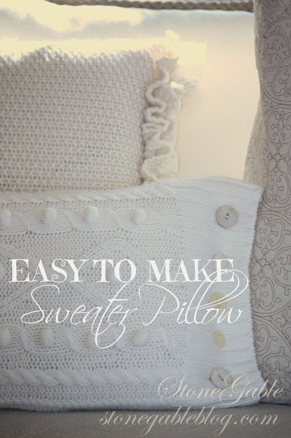 SWEATER PILLOW TUTORIAL