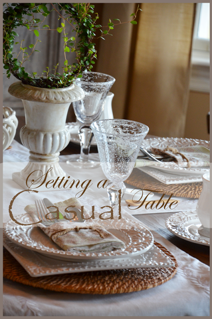 FORMULA FOR SETTING A CASUAL TABLE