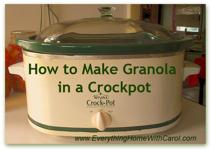 make granola in a crockpot