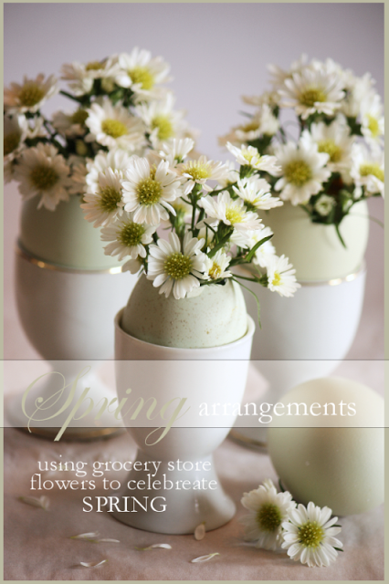 SPRING ARRANGEMENTS USING GROCERY STORE BLOOMS