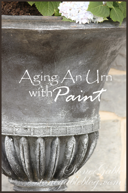 AGING URN WITH PAINT