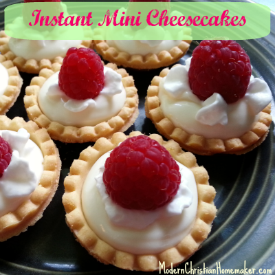 Instant Mini Cheesecakes