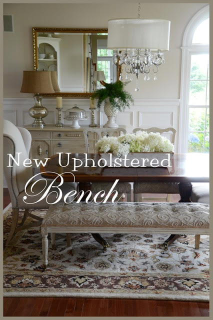 NEW UPHOLSTERED BENCH REVEAL