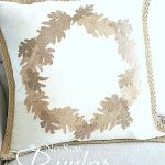 FALL NO SEW BURLAP LEAF PILLOW DIY