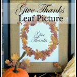 GIVE THANKS PRESSED LEAF PICTURE TUTORIAL