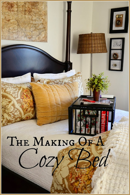 THE MAKING OF A COZY GUEST BED