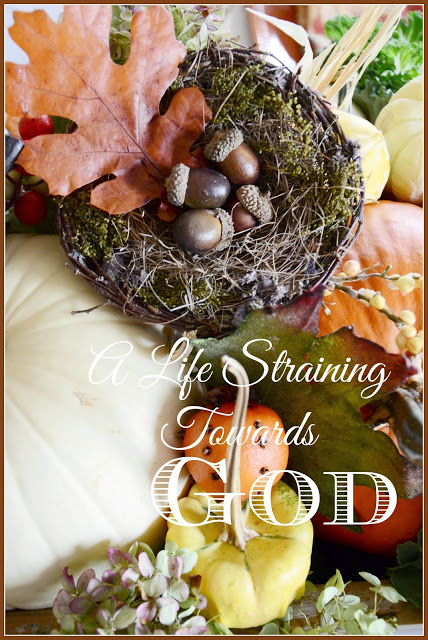 SUNDAY SCRIPTURE~ A LIFE STRAINING TOWARDS GOD
