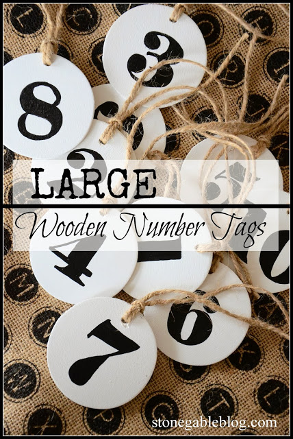 LARGE NUMBER TAGS DIY