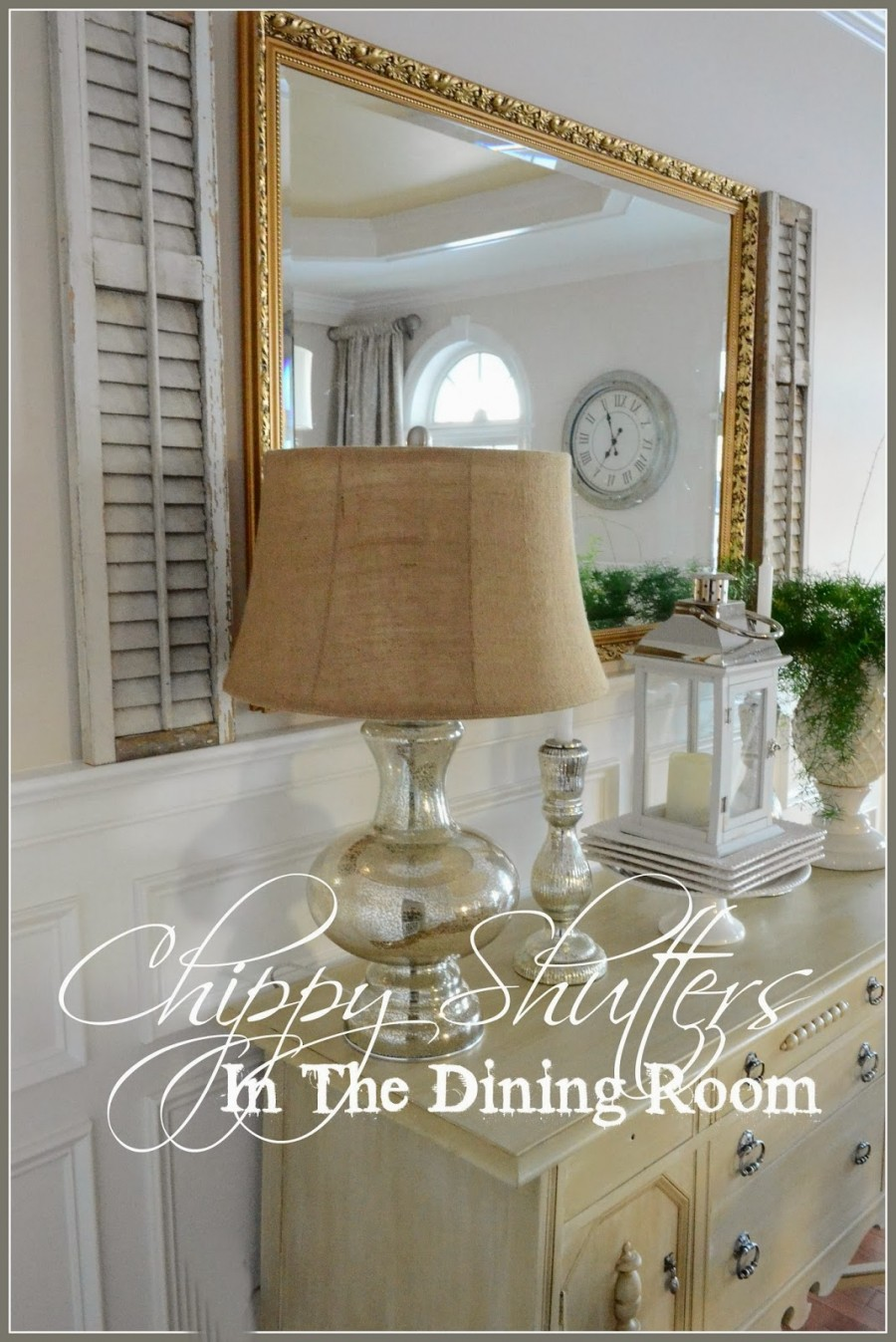 CHIPPY SHUTTERS IN THE DINING ROOM
