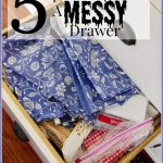 5 TIPS TO ORGANIZE A MESSY DRAWER
