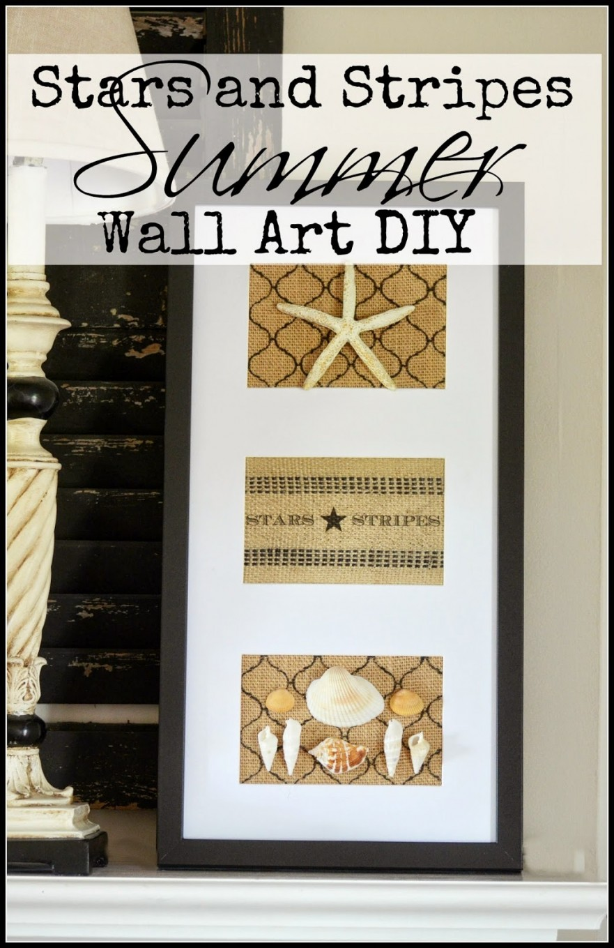 STARS AND STRIPES SUMMER WALL ART DIY