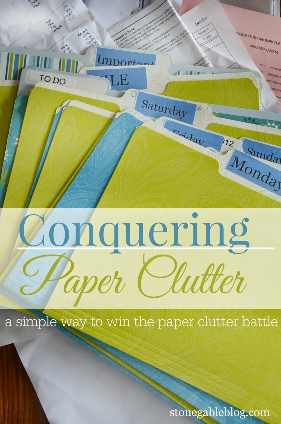 CONQUERING PAPER CLUTTER