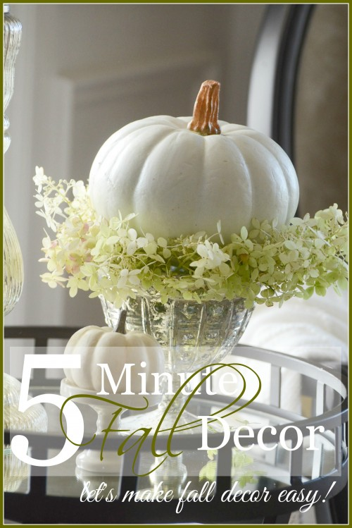 5 MINUTE FALL DECOR- let's make fall decor easy... and pretty! stonegableblog