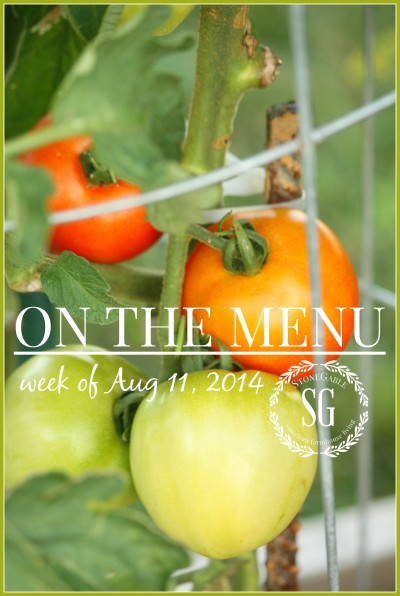 ON THE MENU WEEK OF AUGUST 11, 2O14