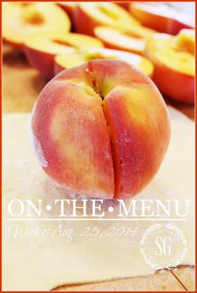 ON THE MENU MONDAY WEEK OF AUG 22, 2014