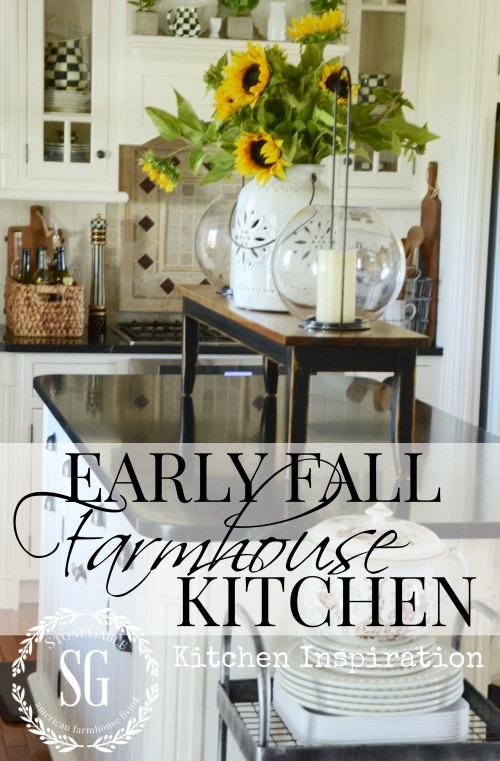 EARLY FALL FARMHOUSE KITCHEN