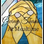 Giving Thanks At Mealtime-stonegableblog.com