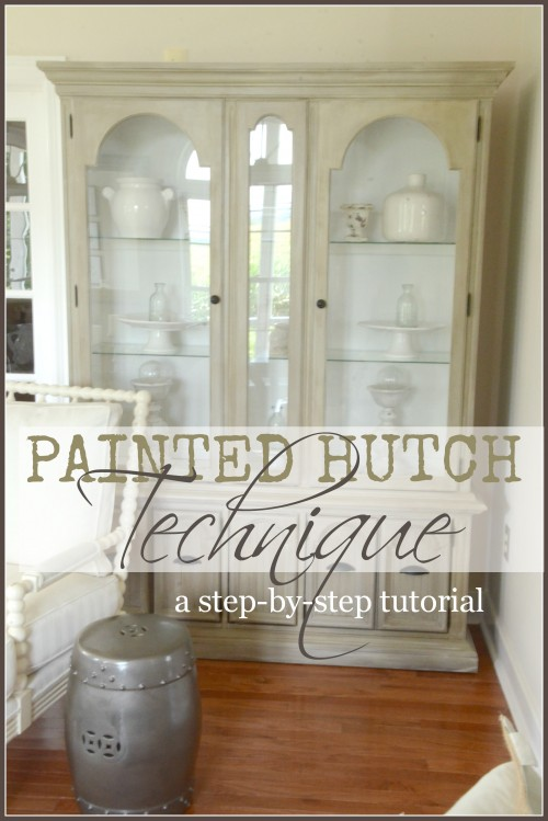 PAINTED HUTCH TECHNIQUE DIY-stonegableblog.com