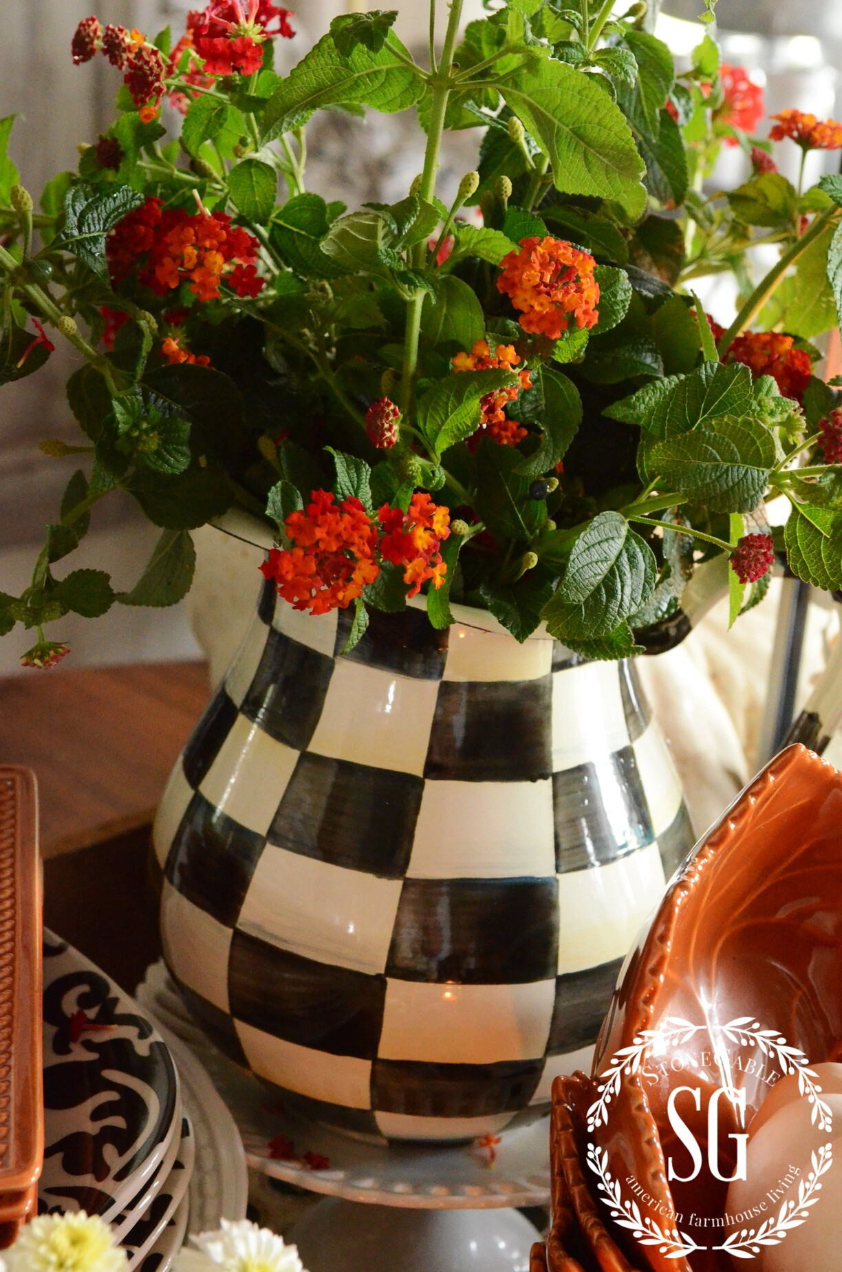 terrific kitchen table centerpiece | FALL KITCHEN TABLE CENTERPIECE - StoneGable