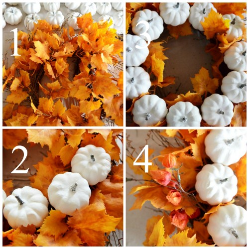 White Pumpkin Fall Wreath-instructions-stonegableblog.com