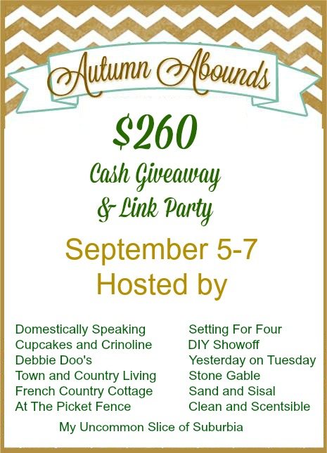 AUTUMN ABOUNDS LINKY PARTY AND $260.00 CASH GIVEAWAY