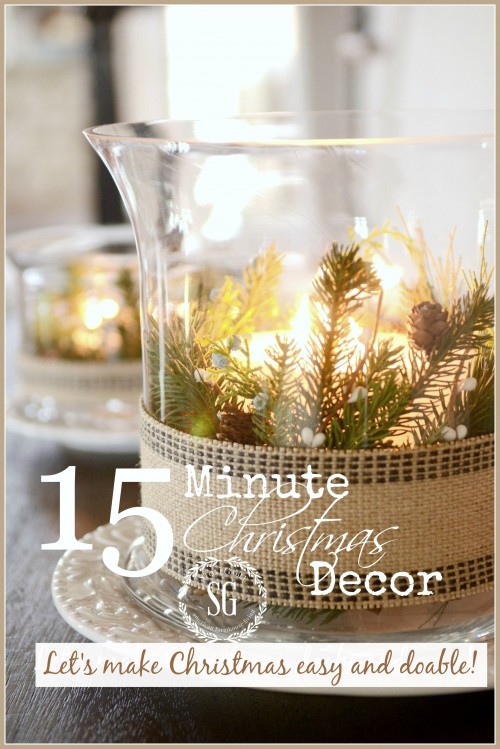 15 MINUTE CHRISTMAS DECOR