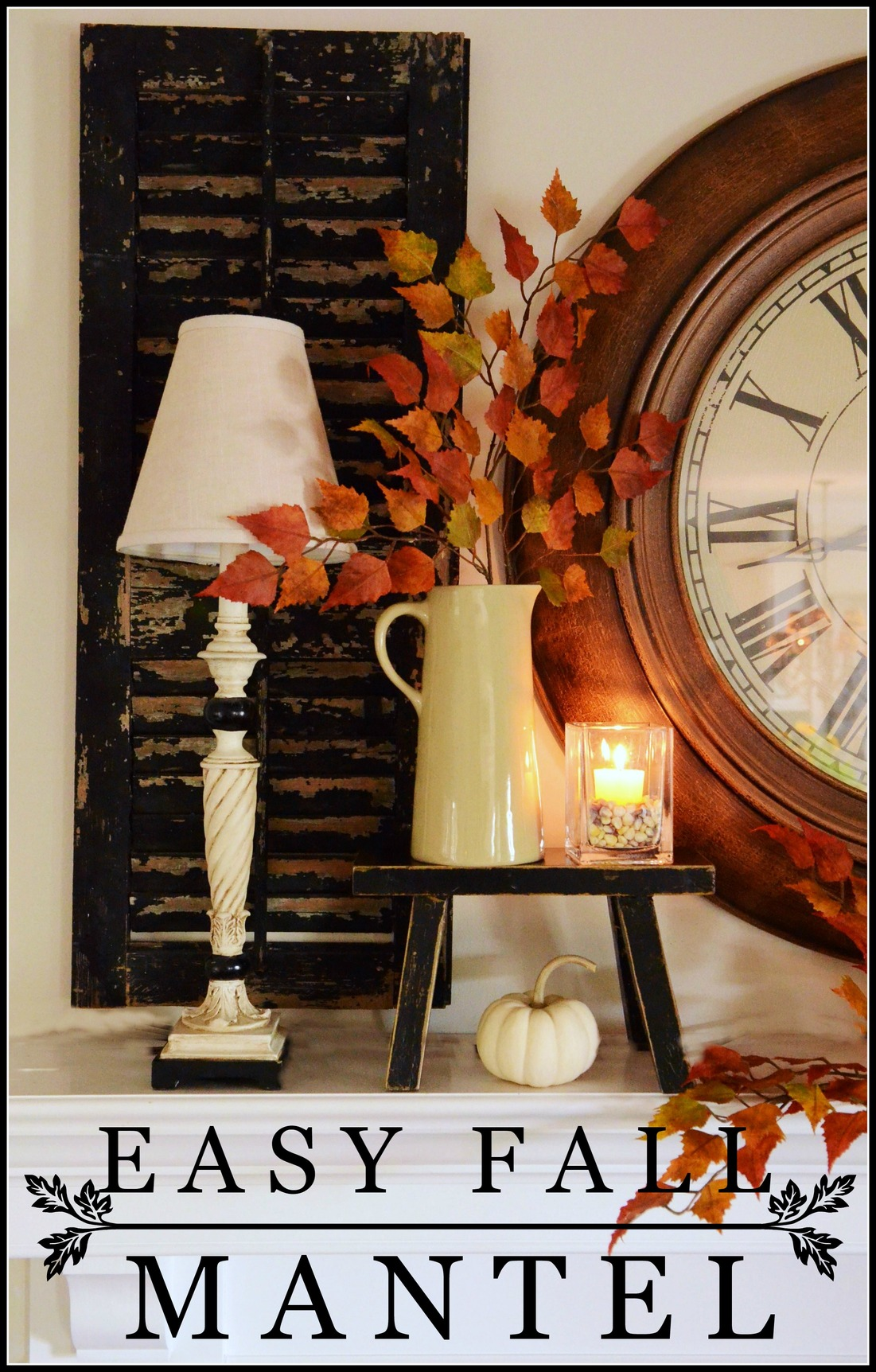 Easy Fall Kids Crafts That Anyone Can Make: EASY FALL MANTEL