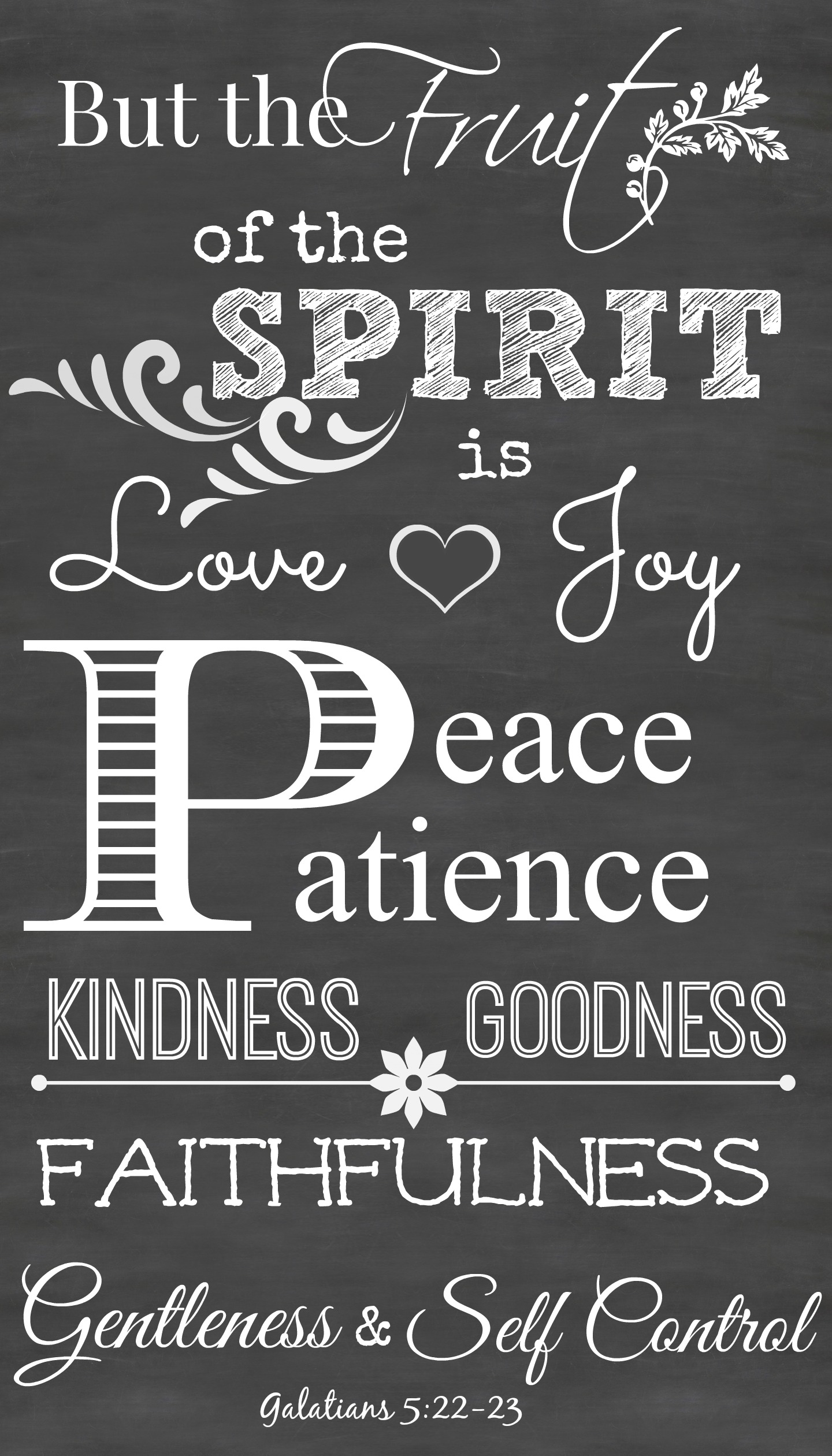 Playful image pertaining to fruits of the spirit printable